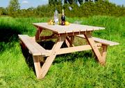 Стол «Пикник» со складными лавочками.