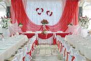 Оформление свадеб,  юбилеев,  праздников тканями,  шарами,  цветами.